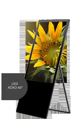 reklamní LCD 43 Panel Ačko